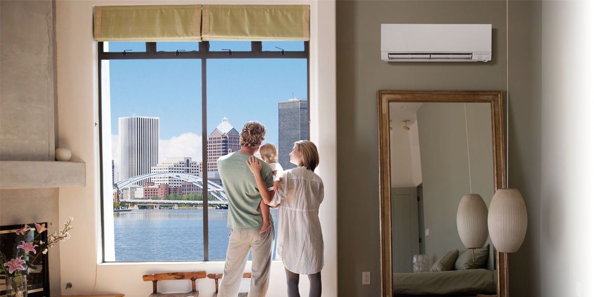 Rochester's premier installer of ductless heating and cooling solutions from Mitsubishi.